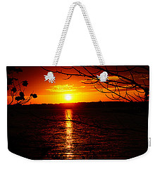 Sunset Through The Trees Weekender Tote Bag by Mike Murdock