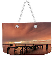 Sunset Thru Storm Clouds Weekender Tote Bag