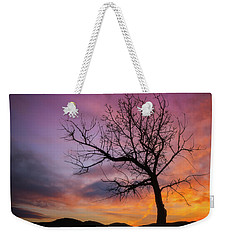 Weekender Tote Bag featuring the photograph Sunset Tree by Darren White