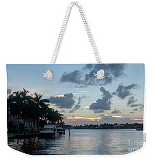 Sunset Tropical Canal Weekender Tote Bag