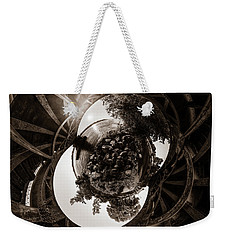 Sunset Under An Iron Sky  - Tiny Planet Weekender Tote Bag by Chris Bordeleau