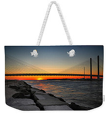 Sunset Under The Indian River Inlet Bridge Weekender Tote Bag