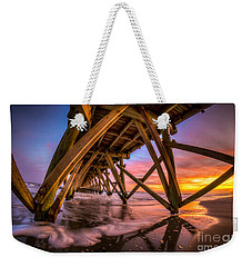 Sunset Under The Pier Weekender Tote Bag