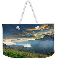 Weekender Tote Bag featuring the photograph Sunset View From Mt Rinjani Crater by Pradeep Raja Prints