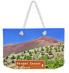 Sunset Crater Volcano Weekender Tote Bag