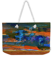 Weekender Tote Bag featuring the painting Sunset Panorama by Walter Fahmy