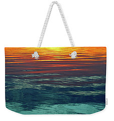 Sunset Water  Weekender Tote Bag by Lyle Crump