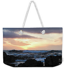 Sunset Waves, Asilomar Beach, Pacific Grove, California #30431 Weekender Tote Bag
