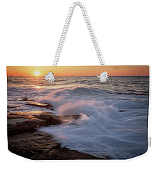 Sunset Waves Rockport Ma. Weekender Tote Bag