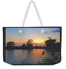 Sunset West Of Myer's Bagels Weekender Tote Bag