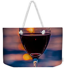 Weekender Tote Bag featuring the photograph Sunset Wine by Michaela Preston