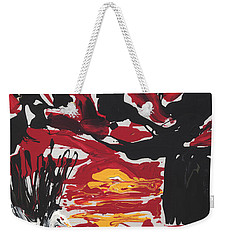 Sunset With Swan Weekender Tote Bag by Phil Strang