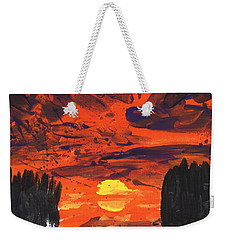 Sunset Without Swan Weekender Tote Bag by Phil Strang