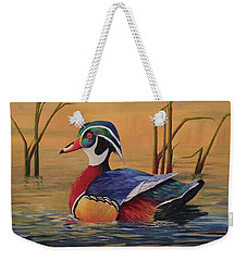 Sunset Wood Duck Weekender Tote Bag