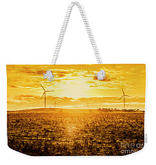 Sunsets And Golden Turbines Weekender Tote Bag