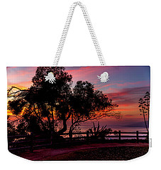 Sunset Silhouettes From Palisades Park Weekender Tote Bag