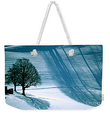 Weekender Tote Bag featuring the photograph Sunshine And Shadows - Winterwonderland by Susanne Van Hulst