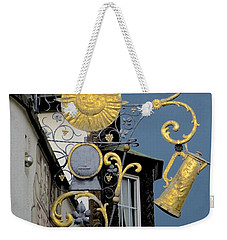 Weekender Tote Bag featuring the photograph Sunshine At Night by Corinne Rhode