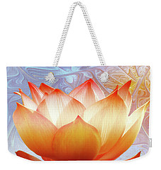 Sunshine Lotus Weekender Tote Bag