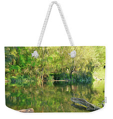Weekender Tote Bag featuring the photograph Sunshine On Nature By Kaye Menner by Kaye Menner