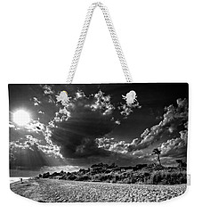 Sunshine On Sanibel Island In Black And White Weekender Tote Bag