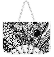 Weekender Tote Bag featuring the drawing Sunsplosion by Jan Steinle
