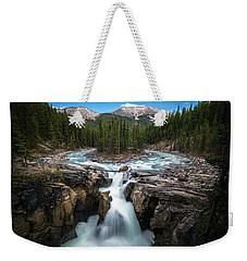 Sunwapta Falls In Jasper National Park Weekender Tote Bag