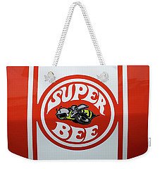 Weekender Tote Bag featuring the photograph Super Bee Emblem by Mike McGlothlen