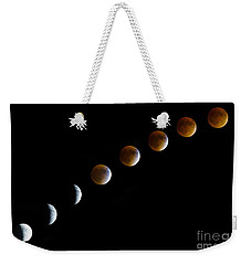 Super Blood Moon Time Lapse Weekender Tote Bag