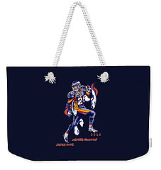 Weekender Tote Bag featuring the drawing Super Bowl 2016  by Andrzej Szczerski