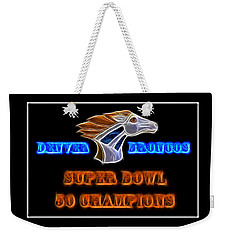 Weekender Tote Bag featuring the photograph Super Bowl 50 Champions by Shane Bechler