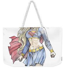 Super Girl Weekender Tote Bag by Jimmy Adams