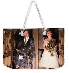 Super Hero Wedding Pose Weekender Tote Bag