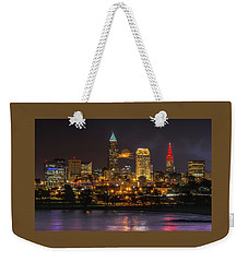 Super Moon 2016 Over Cleveland Weekender Tote Bag
