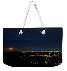 Super Moon 2016 Rises Over Boston Massachusetts Weekender Tote Bag by Diane Diederich