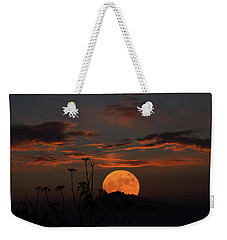 Super Moon And Silhouettes Weekender Tote Bag