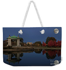 Weekender Tote Bag featuring the photograph Super Moon by Andrea Silies