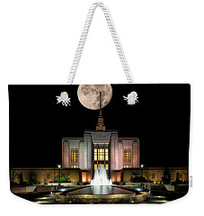 Super Moon At Ogden Lds Temple Weekender Tote Bag