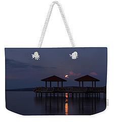 Super Moon Over Lake Dardanelle Weekender Tote Bag