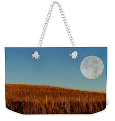 Super Moon Over The Prairie Weekender Tote Bag