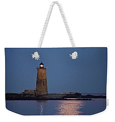 Super Moon Over Whaleback Lighthouse Weekender Tote Bag