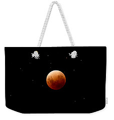 Super Red Blue Moon Eclipse Weekender Tote Bag