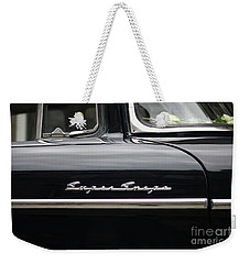 Weekender Tote Bag featuring the photograph Super Snipe Car by Mary-Lee Sanders
