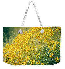 Superbloom Golden Yellow Weekender Tote Bag by Amyn Nasser