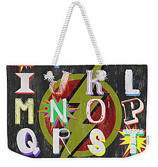 Superhero Alphabet Weekender Tote Bag