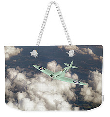Weekender Tote Bag featuring the photograph Supermarine Spitfire Prototype K5054 by Gary Eason