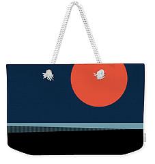 Weekender Tote Bag featuring the digital art Supermoon Over The Sea by Klara Acel