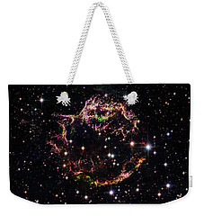 Weekender Tote Bag featuring the photograph Supernova Remnant Cassiopeia A by Marco Oliveira