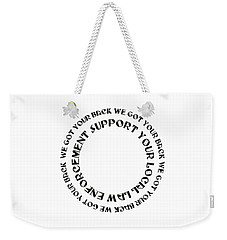 Weekender Tote Bag featuring the digital art Support Your Local Law Enforcement by Andee Design