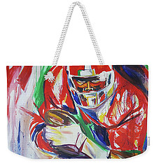 Weekender Tote Bag featuring the painting Sure To Score by John Jr Gholson